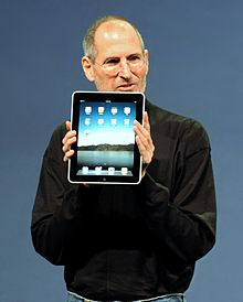 Steven Jobs introducing the iPad