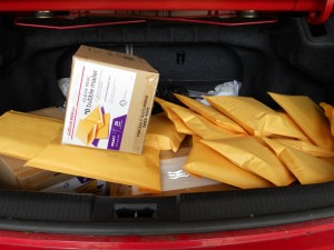 trunk of packages