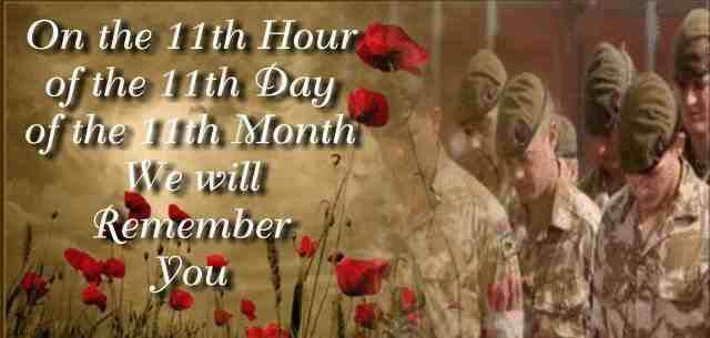 Remembrance Day – Veterans Day 2012
