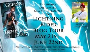 Lightning Rider large blog tour button