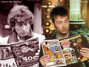 Tom Baker and David Tennant as the Doctor