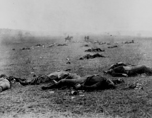 Union and Confederate Dead Gettysburg
