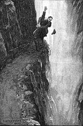 Sherlock Holmes and Professor Moriarty at the Reichenbach Falls by Sidney Paget