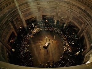 jfk in rotunda aerial view