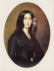 Portrait of George Sand at 34 by Auguste Charpentier