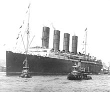Lusitania in 1907