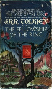 fellowship of the ring by tolkien old paperback