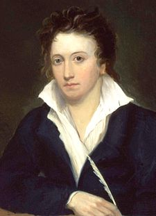 Percy Bysshe Shelley by Alfred Clint (1819)