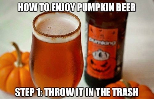 pumpkin beer meme