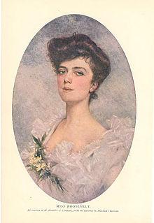 Alice Roosevelt, formal portrait by Theobald Chartran 1901.