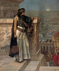 Queen Zenobia's Last Look Upon Palmyra, by Herbert Gustave Schmalz. Original on exhibit, Art Gallery of South Australia, Adelaide.
