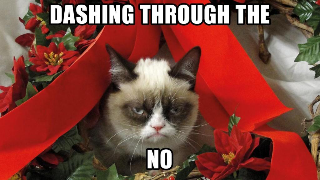 grumpy cat xmas