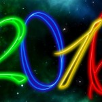 2016 neon numbers