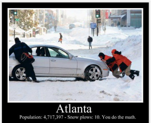 atlanta snow plows math