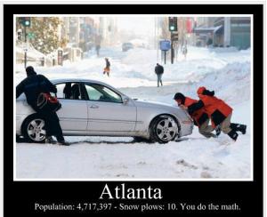 atlanta snow plows math
