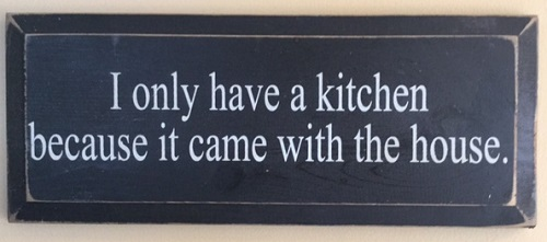 only have a kitchen sign