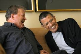 shatner nimoy laughing late