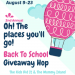 Oh The Places You'll Go Giveaway Hop